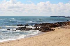 Atlantic Ocean seaside in Porto, Portugal Stock Photo