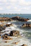 Atlantic Ocean seaside in Porto, Portugal Royalty Free Stock Photography