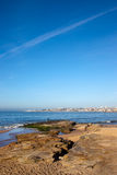 Atlantic Ocean Shore in Cascais Stock Photo