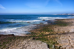 Atlantic Ocean Shore in Estoril Royalty Free Stock Photos