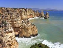 Atlantic Ocean shoreline in Ponta da Piedale Point, Algarve Royalty Free Stock Images