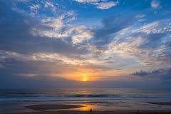 Atlantic Ocean solnedgång royaltyfri foto
