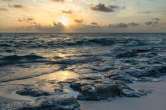 Atlantic Ocean soluppgång Arkivfoto