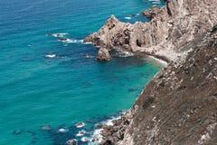 Atlantic ocean summer vacation. Atlantic ocean blue waves Portugal Cabo da Roca landscape cliffs rock sky summer water Royalty Free Stock Photo