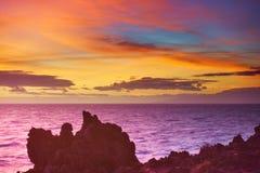 Atlantic ocean sundown seascape Royalty Free Stock Images