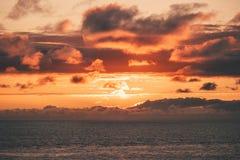 Atlantic ocean sunset sky Landscape. Travel serene scenic view beautiful natural colors Royalty Free Stock Photos