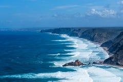 Atlantic ocean from Torre de Aspa viewpoint in Algarve, Portugal Stock Images