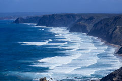 Atlantic ocean from Torre de Aspa viewpoint in Algarve, Portugal Stock Image