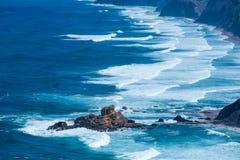 Atlantic ocean from Torre de Aspa viewpoint in Algarve, Portugal Royalty Free Stock Photo