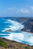 Atlantic ocean from Torre de Aspa viewpoint in Algarve, Portugal Royalty Free Stock Images