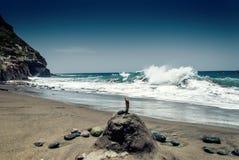 Atlantic Ocean våg royaltyfria foton