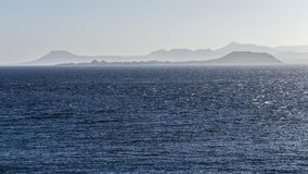 Atlantic Ocean with a view of the Canary Islands in the backgrou Stock Image