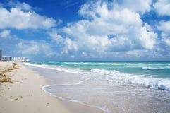 Atlantic Ocean view and South Beach of Miami Royalty Free Stock Photos