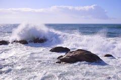 Atlantic Ocean. The view of the Atlantic Ocean in Vila do Conde, Portugal royalty free stock photos