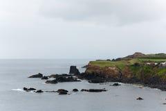 Atlantic ocean volcanic island Portugal Azores. Nature Stock Photo