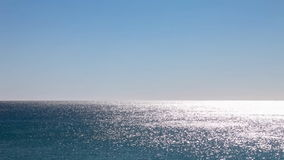 The Atlantic Ocean water shimmering and glittering stock footage