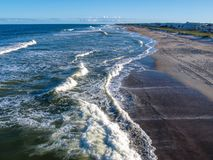 Kure Beach in North Carolina royalty free stock photography