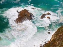 Atlantic Ocean Waves Crashing on Rocks Royalty Free Stock Photography