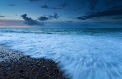 Atlantic ocean waves in dusk Royalty Free Stock Images
