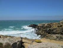 Atlantic Ocean. Ocean, wind, water, sky Royalty Free Stock Images