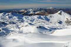 The Atlantic Pyrenees in winter Royalty Free Stock Image