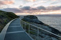 Atlantic road, Atlanterhavsvegen. One of the most beautiful roads in the world Royalty Free Stock Photography