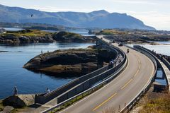 Atlantic road near Molde in South Norway stock photography