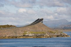 Atlantic road in Norway stock images