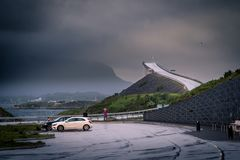 Atlantic Road, Norway. One of most epic roads on the world Stock Images