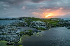 Atlantic Road, Norway. One of most epic roads on the world Royalty Free Stock Photo