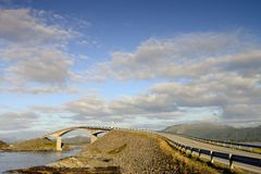 Atlantic road. Traveling in norway royalty free stock photos