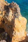 Atlantic rocky coast view Algarve, Portugal. Stock Images