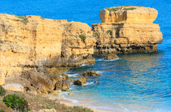Atlantic rocky coast view Algarve, Portugal. Stock Photo