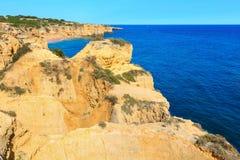 Atlantic rocky coastlineAlgarve, Portugal. Stock Images
