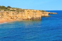 Atlantic rocky coastlineAlgarve, Portugal. Stock Image