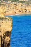 Atlantic rocky coastlineAlgarve, Portugal. Stock Photography