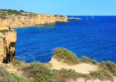 Atlantic rocky coastlineAlgarve, Portugal. Royalty Free Stock Photography