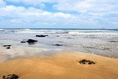 Atlantic sand shore Stock Photography