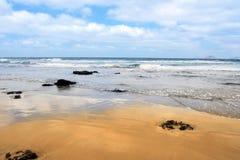 Atlantic sand shore Stock Photography