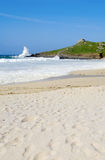 Atlantic sea breaks on Porthmeor beach, St. Ives. Stock Photo