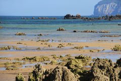 Atlantic shore of Cantabria, Spain Stock Images