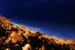 Atlantic shore at the night Stock Photography