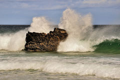 Crashing waves, Northern Scotland Royalty Free Stock Photos