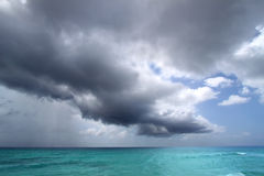 Atlantic Storm Clouds. View of the storm couds forming over Atlantic Ocean from the Caribbean island of Barbados Stock Photography