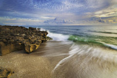 Atlantic Sunrise. Sunrise on the Atlantic Ocean Royalty Free Stock Images