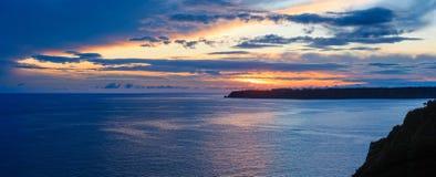 Atlantic sunset coastline landscape Spain. Stock Photography
