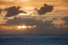 Atlantic sunset royalty free stock photos