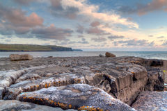 Atlantic sunset over Burren - Ireland Royalty Free Stock Photography