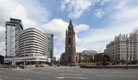 The Atlantic tower hotel and parish church Liverpool Royalty Free Stock Images