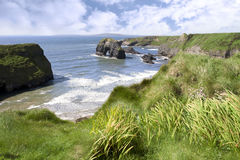 Atlantic virgin rock view Stock Photos